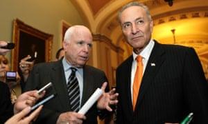 John McCain and Chuck Schumer on Wednesday