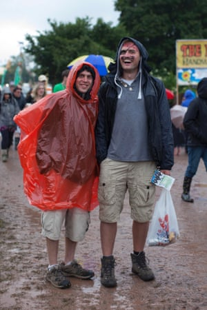 Pirates enjoy the rain near the main stages