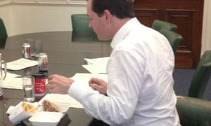 George Osborne's tweet of him eating a burger and chips