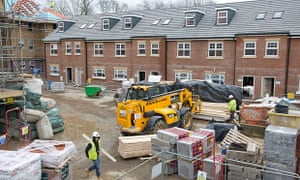 New homes being built in north London