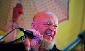 Michael Eavis singing karaoke at the Rabbit Hole on the eve of the main launch of this year's Glastonbury Festival