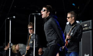 Liam Gallagher performs with his band Beady Eye.
