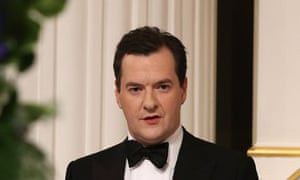 George Osborne addresses the audience at Mansion H ouse