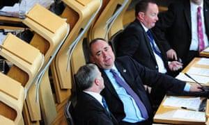 Alex Salmond in the Scottish parliament