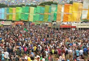 A sea of people at Glastonbury.
