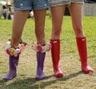 Glastonbury fashion: wellies