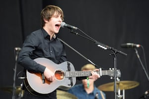Glastonbury day one: Jake Bugg gets the crowd going on the the Pyramid stage