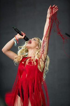 Glastonbury day one: Rita Ora on the Pyramid stage