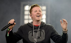 Professor Green seems to be enjoying his time on stage.