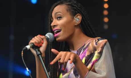 Solange performs on the Park stage during the first performance day of the Glastonbury 2013 Festival of Contemporary Performing Arts at Pilton Farm, Somerset.