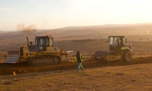 A new road is prepared  in Qunu near the home of Nelson Mandela