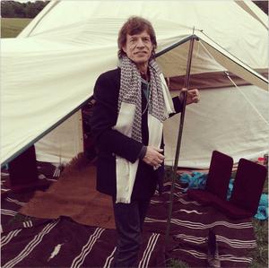 Mick Jagger and his yurt