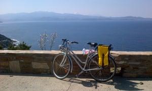 安娜啤酒在科西嘉岛的自行车照片