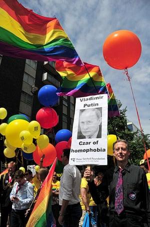London Pride: Peter Tatchell