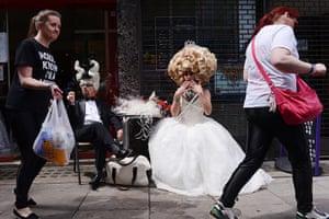 London Pride: Revellers in fancy dress