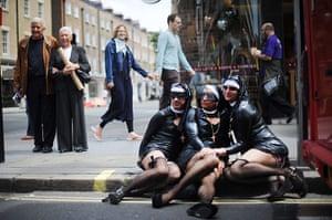 London Pride: Revellers dressed as nuns