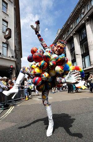 London Pride: A participant dances