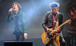 Mick Jagger and Keith Richards at Glastonbury