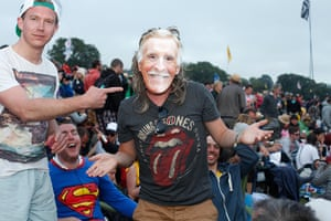 Rolling Stones: Fans wait by the Pyramid stage