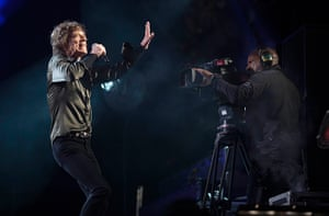 Rolling Stones: Mick with a film camera