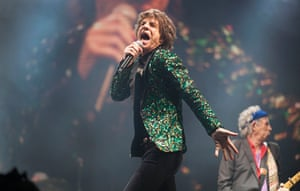 Rolling Stones: Mick Jagger on stage