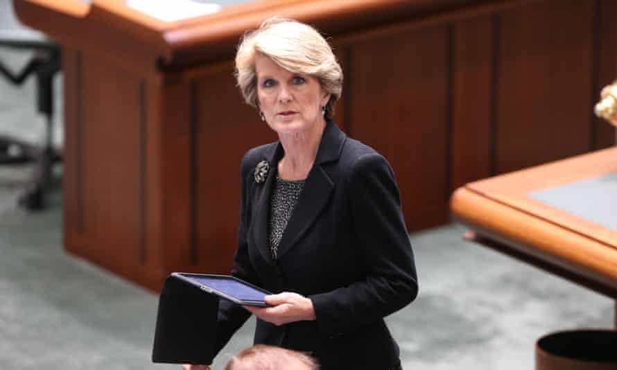Deputy Liberal leader Julie Bishop during Question Time in Parliament. Photograph: Mike Bowers