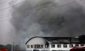 Fire at China poultry plant