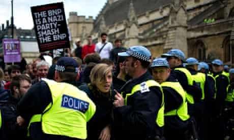 Anti-fascist counter BNP march