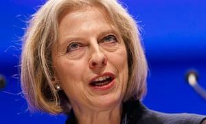 Theresa May, the home secretary