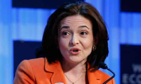 Sandberg CEO Facebook attends the annual meeting of WEF in Davos