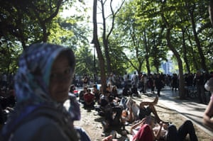 Protestors gather at the Gezi Park in Taksim Square on June 3, 2013 in Istanbul, Turkey.