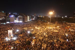 Thousands of protesters gather for another rally at the Taksim square in Istanbul late Monday, June 3, 2013.