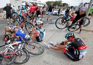 TDF: Riders fall in the first stage of the Tour de France