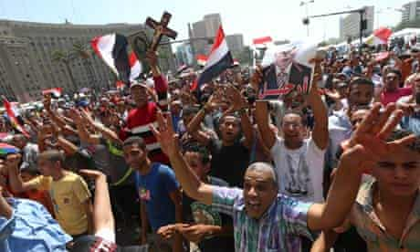Protests in Cairo against Mohamed Morsi