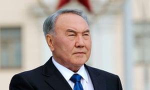 Kazakhstan's president, Nursultan Nazarbayev