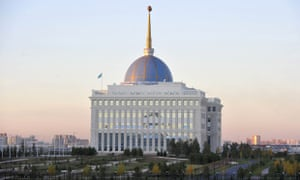 The presidential palace in Kazakhstan's capital, Astana