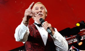 Bruce Forsyth performing at the Avalon tent at Glastonbury