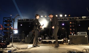 The xx perform at the BBC Introducing Stage at Glastonbury 2013