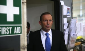 The Leader of the Opposition Tony Abbott visits ACT Steelworks in Queanbeyan. The Global Mail. Mike Bowers.