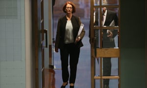 The Prime Minister Julia Gillard arrives for question time. The Global Mail. Mike Bowers.