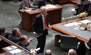 The Shadow Minister for Broadband Malcolm Turnbull is evicted from the House. The Global Mail. Mike Bowers.