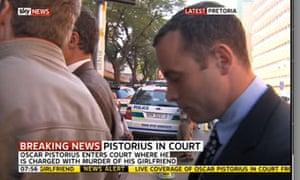 Oscar Pistorius arriving in court on 4 June 2013.