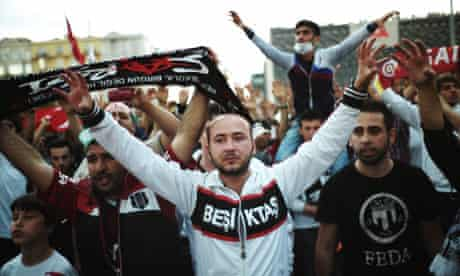 Beskitas fans join protests in Istanbul