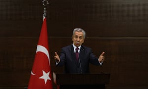 """Turkish Deputy Prime Minister Bulent Arinc gives a press conference in Ankara in which he apologised on behalf of the government to protesters hurt in clashes with police during days of demonstrations and called for an immediate end to the protests. Arinc moved to calm tensions after days of street clashes that have left at least two people dead, saying the government had """"learnt its lesson"""" from the disturbances."""