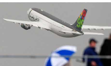 Afriqiyah Airways airbus plane