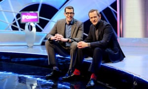 Alexander Armstrong (right) with co-host Richard Osman on the set of Pointless