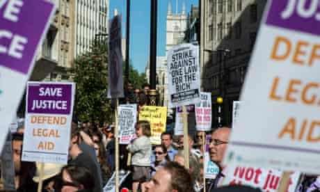 Lawyers' legal aid protest