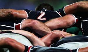 USA rugby scrum
