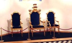George IV's freemason's throne