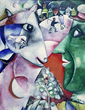 Marc Chagall: I and the Village, 1911. Oil on Canvas